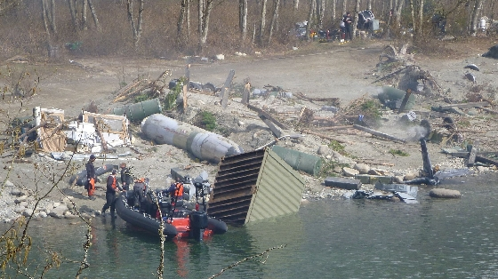 More destruction on the set of Godzilla! (Set Photo)