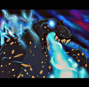 Godzilla in Don Bluth's style