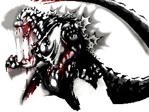 Godzilla in Sin City's Artstyle