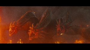 Godzilla throwdown TV spot screenshots