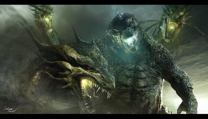 Godzilla Vs. King Ghidorah in the 2019 Film