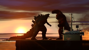 Godzilla vs. Kong aircraft carrier battle render