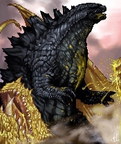 Godzilla 2014 vs. Ghidorah Fan Art
