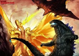 Godzilla 2014 Sequel Idea - Featuring Rodan, King Ghidorah, Mothra and Big G!