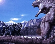 Godzilla 2014 vs. Anguirus Fan Art