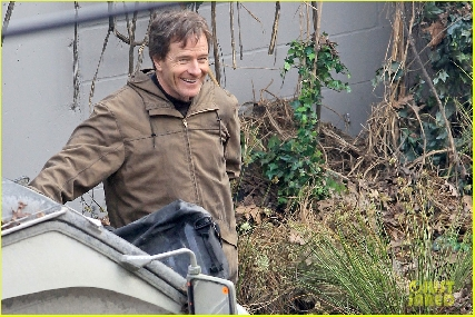 Godzilla 2014 Set Photo - Bryan Cranston