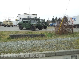 Humvee on Godzilla 2014 Movie Set - Exclusive!