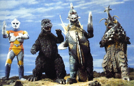 Godzilla, Gigan, Megalon and Jet Jaguar