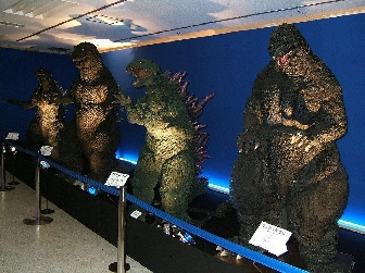 Godzilla Suits on DIsplay