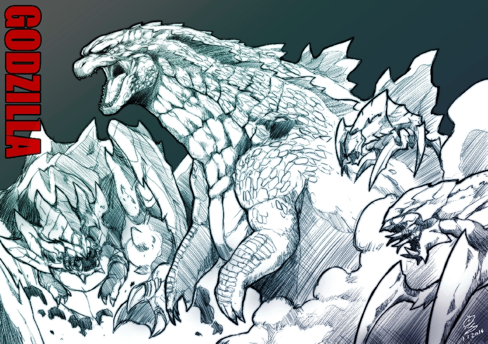Godzilla vs. MUTOs Fan Art