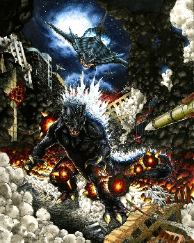 Godzilla vs. Gamera - Fan Art