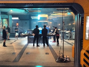 John Boyega and Scott Eastwood on Pacific Rim: Uprising set