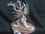 King Ghidorah sculpture made of KFC chicken bones 2