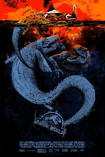 Mondo Jurassic World poster from Comic-Con 2016