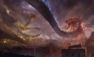 Monsterverse Godzilla vs. Ghidorah Fan Art by Chi heui Chen