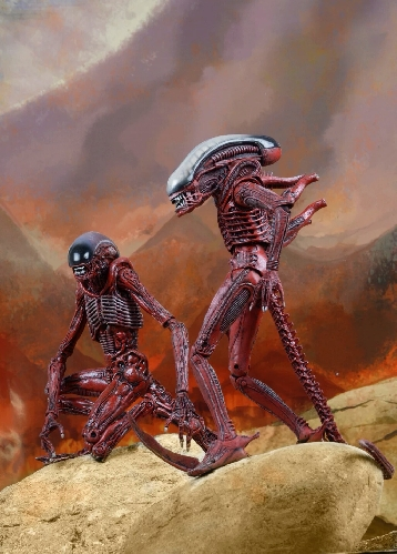 NECA Genocide Alien Runner and Big Chap concept figures