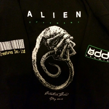 Odd Studio Creature Crew Alien: Covenant clothing