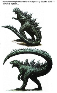 Rejected Godzilla Designs for the 2014 Reboot