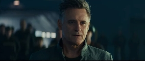 President Whitmore wearing pilot uniform in Independence Day: Resurgence