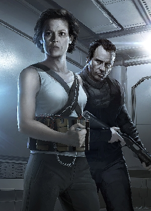 Ripley and Hicks Alien 5 (Concept Art)