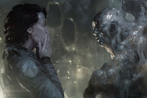 Ripley discovers Alien hosts (Concept Art)