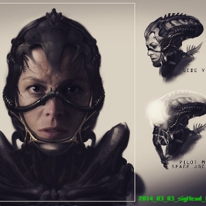 Ripley Space Jockey Suit (Concept Art)