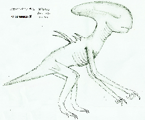 Sketch of Neomorph from the trailer