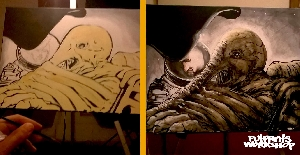 Space jockey Dallas painting / before & after