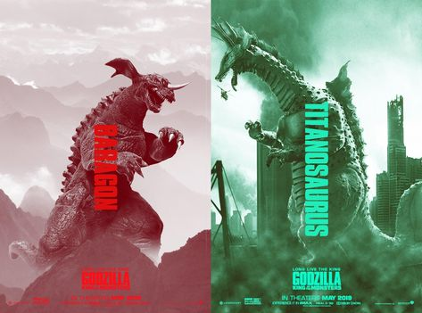 Baragon and Titanosaurus Fan Posters!