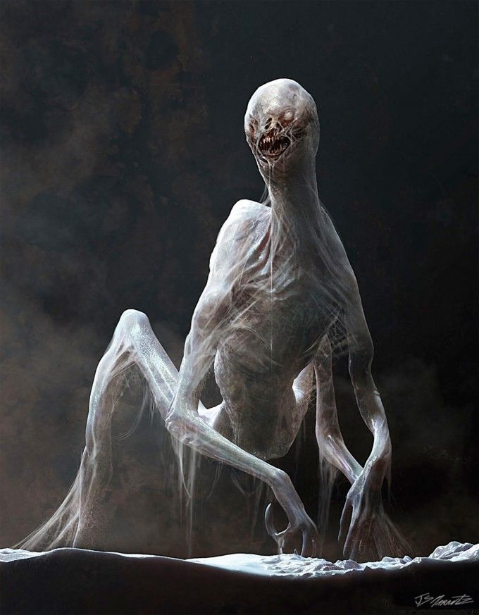 Concept for Deacon Alien by Ivan Manzella - Prometheus