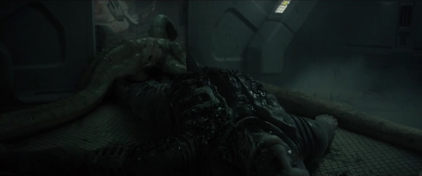 Deacon Alien Birthing Scene in Prometheus - Prometheus