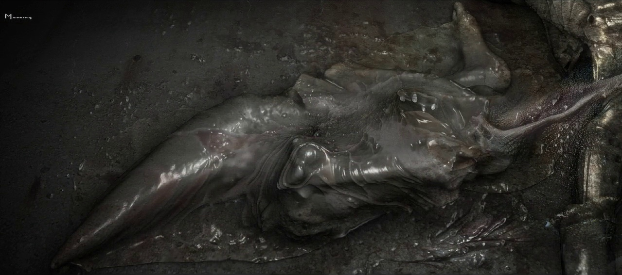 Official Deacon Alien Concept Artwork - Prometheus Artwork
