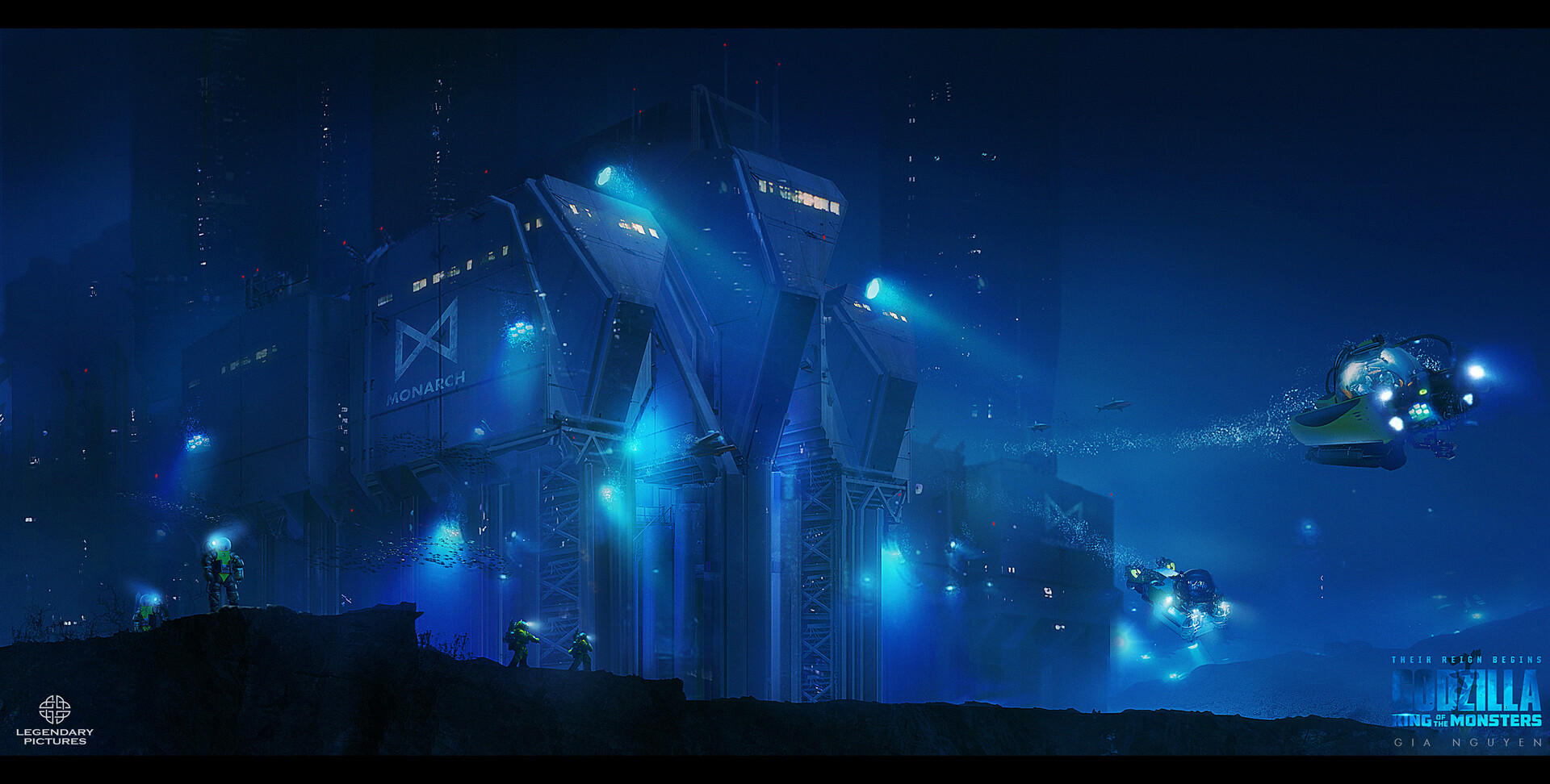 Godzilla 2 Underwater Monarch Facility