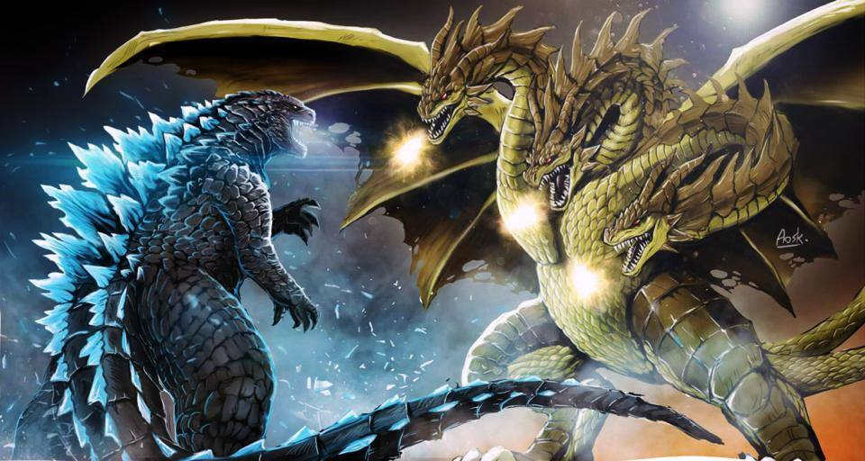 Legendary Godzilla vs. Ghidorah Fan Art