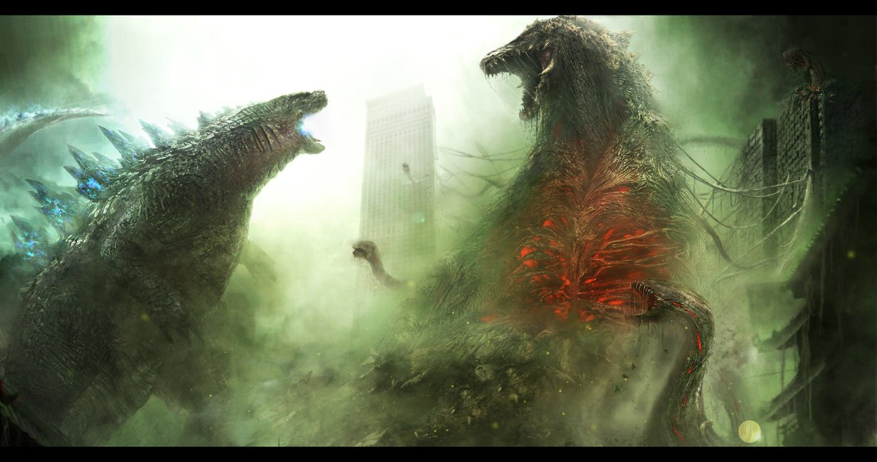 Godzilla 2014 vs. Biollante Fan Art