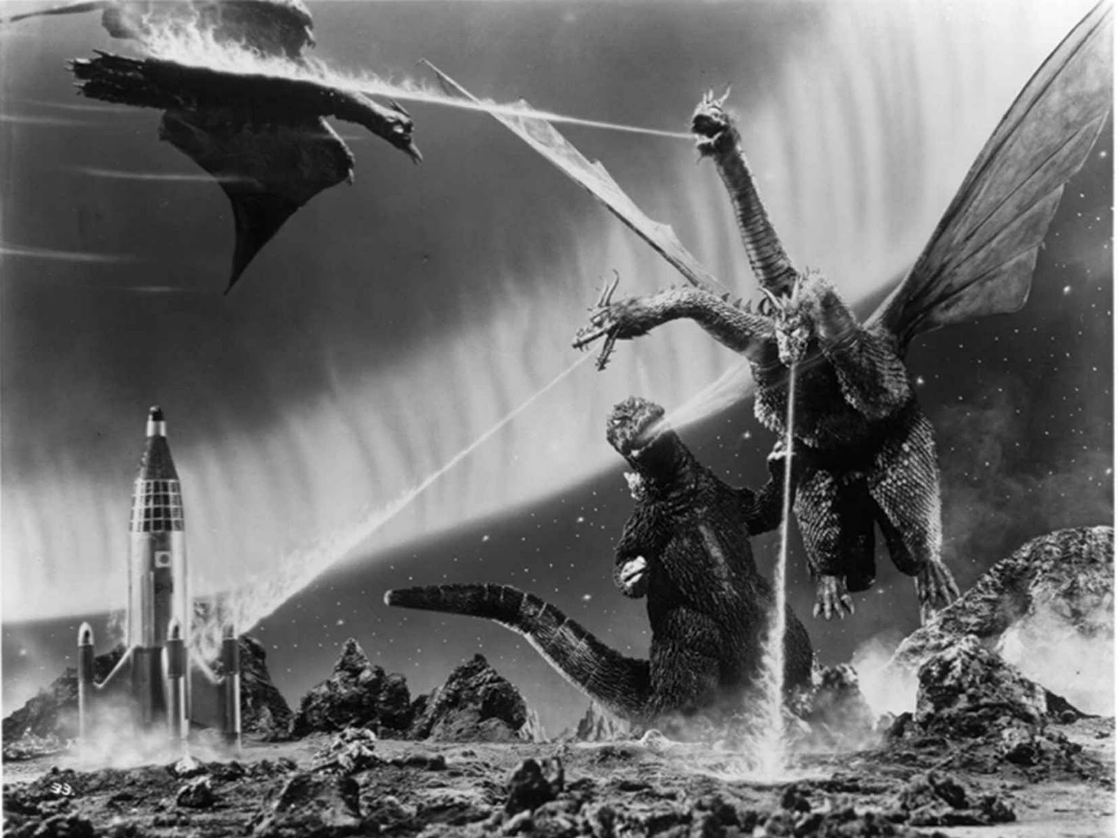 Godzilla, Rodan and King Ghidorah