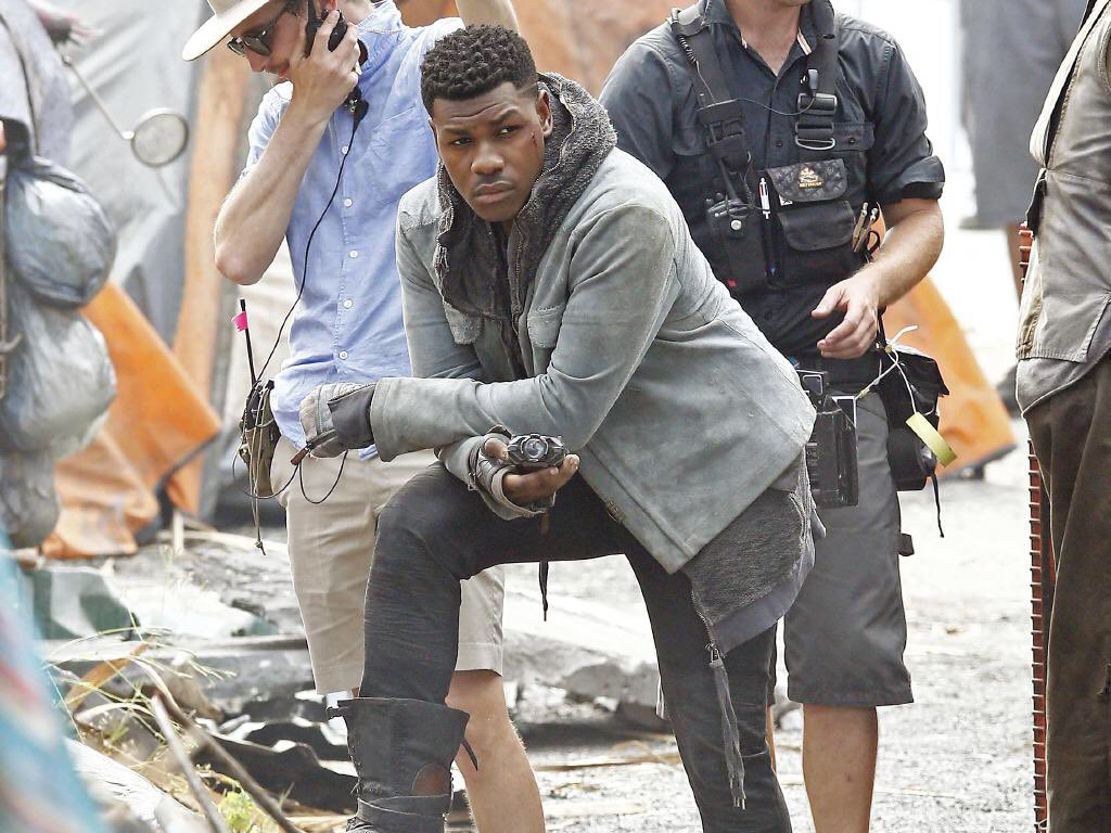 John Boyega on set of Pacific Rim: Maelstrom