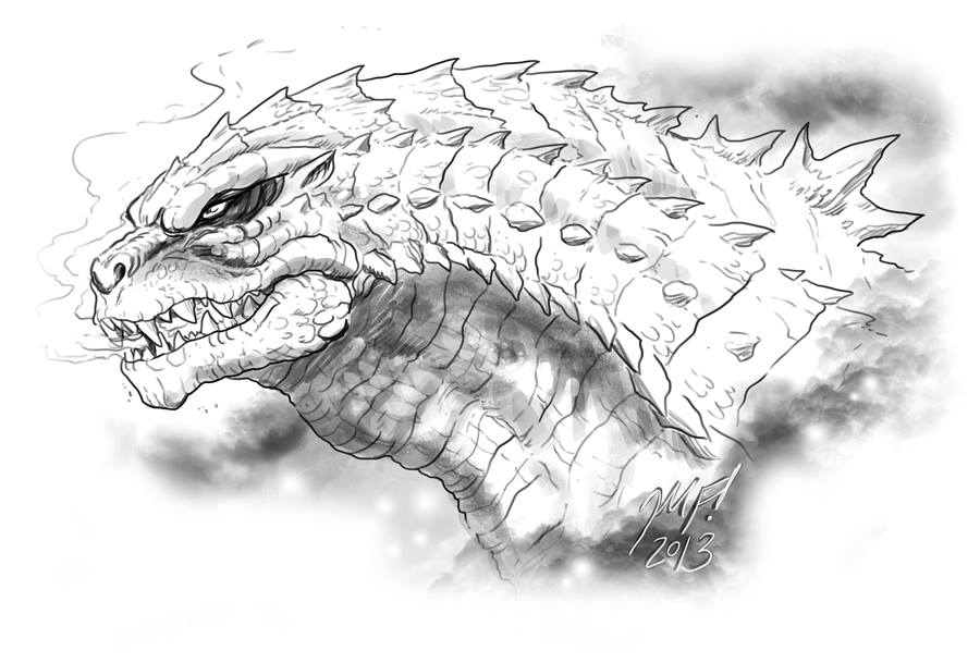 New Godzilla 2014 Fan Sketch by Matt Frank