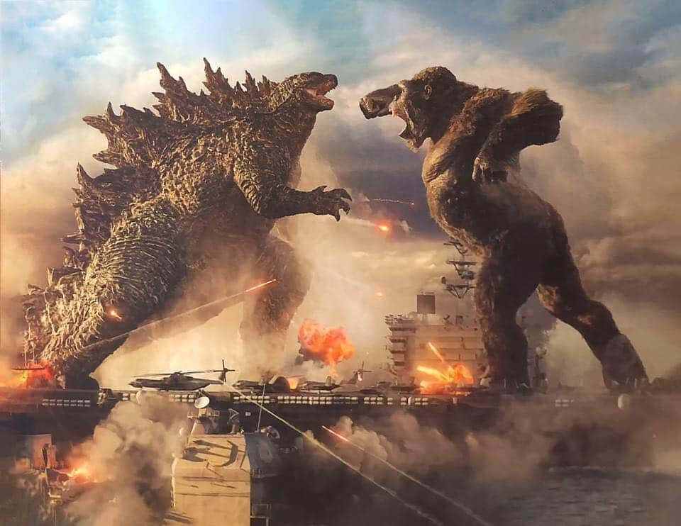Official Godzilla vs. Kong (2021) banner