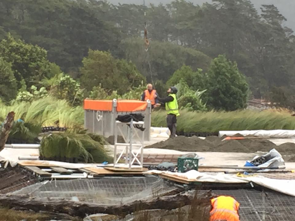 Workers on the Alien: Covenant movie set in New Zealand