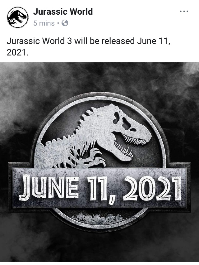 Jurassic World 3 movie poster