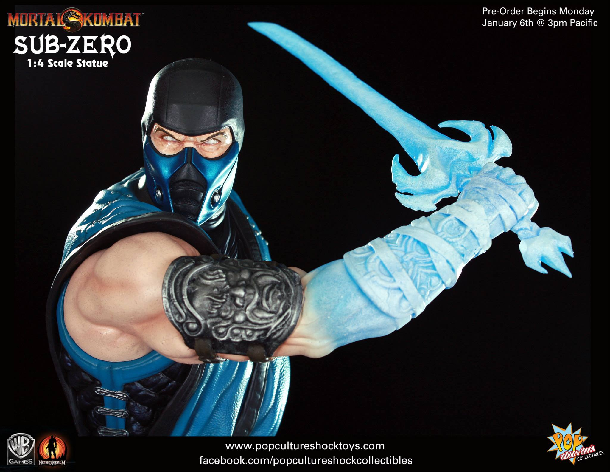 Pop Culture Shock Reveals Mortal Kombat Sub Zero Statue