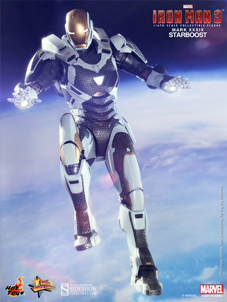 Hot Toys Reveals Iron Man 3 Mark XXXIX Starboost Sixth Scale Figure
