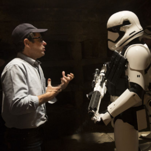 Star Wars: The Force Awakens director J J Abrams talks about Episode VIII director Rian Johnson!