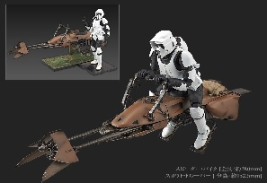 Bandai Officially Reveals Speeder Bike Model Kit
