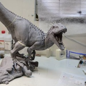UPDATED - Epic Indominus Rex vs. Triceratops sculpture in the works!