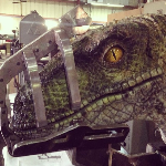 First look at an animatronic Velociraptor from Jurassic World?