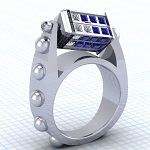 Awesome Doctor Who 'Spinning Tardis' Ring!