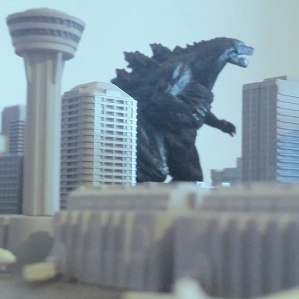 Godzilla Gashapon Photography