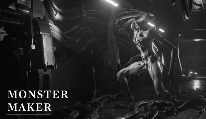 Monster Maker by Gordei Krasnov takes Giger style